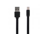 Cablu Date si Incarcare USB la MicroUSB Remax RC-129m Fast Pro, 2.4A, 1 m, Negru, Blister