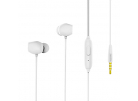 Handsfree Casti In-Ear Remax RM-550, Cu microfon, 3.5 mm, Alb, Blister