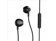 Handsfree Casti EarBuds Remax RM-711, Cu microfon, 3.5 mm, Negru, Blister