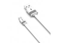 Cablu Date si Incarcare USB la MicroUSB Proda Fenche PD-B17m, 3A, 1 m, Alb, Blister