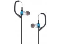 Handsfree Casti In-Ear Forever Sport Music, Cu microfon, 3.5 mm, Albastru - Negru, Blister
