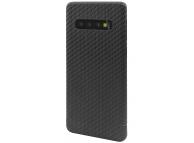 Husa Fibra Carbon Nevox pentru Samsung Galaxy S10+ G975, CarbonSeries, Neagra, Blister