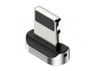 Adaptor din zinc pentru cablu magnetic Lightning Baseus, Negru Blister CALXC-E