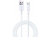 Cablu Date si Incarcare USB la USB Type-C DEVIA Shark, 5A, 1.5 m, Alb, Blister