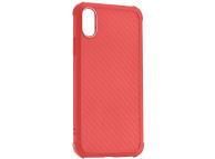 Husa TPU Roar Armor Carbon pentru Apple iPhone XR, Rosie, Blister