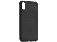 Husa TPU Roar Armor Carbon pentru Apple iPhone XR, Neagra, Blister