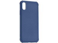 Husa TPU Roar Armor Carbon pentru Apple iPhone X / Apple iPhone XS, Bleumarin, Blister