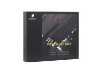 Pachet promotional pentru incarcare dispozitiv Puridea G4, Baterie Externa 10000 mAh + Incarcator retea / auto Dual USB + Cablu incarcare 3 in 1, Negru, Blister