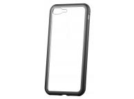 Husa Aluminiu OEM Magneto Frame cu spate din sticla pentru Apple iPhone 7 / Apple iPhone 8, Neagra, Blister