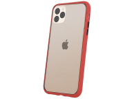 Husa TPU OEM Colored Buttons pentru Apple iPhone X / Apple iPhone XS, Rosie, Bulk