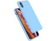 Husa TPU OEM Shockproof Frosted pentru Apple iPhone X / Apple iPhone XS, Bleu, Bulk