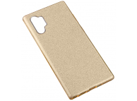 Husa Plastic - TPU OEM Glittery Powder pentru Samsung Galaxy Note 10+ N975 / Note 10+ 5G N976, Aurie, Bulk