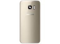 Capac Baterie - Geam Bltiz - Geam Camera Spate Auriu, Second Hand Samsung Galaxy S7 edge G935