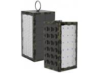 Baterie Externa Powerbank Goui Box cu panou fotovoltaic si led-uri, Waterproof, 10600 mA, 1 x USB, Neagra, Blister G-SOLARLIGHT-CAM