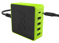 Incarcator Retea Statie USB Goui KIMBA X5, Quick Charge 3 + PD, 60W, 1 X USB Tip-C - 4 x USB, Negru, Blister G-60WUSBPD