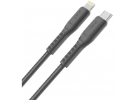 Cablu Date si Incarcare USB Type-C la Lightning UNIQ Flex, 1.2 m, Gri, Blister