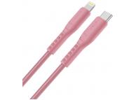 Cablu Date si Incarcare USB Type-C la Lightning UNIQ Flex, 1.2 m, Roz, Blister