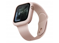 Husa TPU pentru Apple Watch Series 5/4, 40mm Uniq Lino, Roz Blister