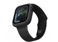 Husa TPU pentru Apple Watch Series 5/4, 44mm Uniq Lino, Neagra Blister
