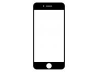 Geam Ecran cu rama si adeziv OCA Apple iPhone 8 Negru