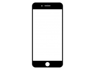 Geam Ecran cu rama si adeziv OCA Apple iPhone 8 Plus Negru