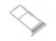 Suport Card / SIM2- Suport SIM1 Argintiu (Aura White) Samsung Galaxy Note 10+ N975 Dual SIM
