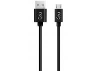 Cablu Date si Incarcare USB la MicroUSB Goui Classic, 3 m, Negru, Blister G-MC-01K3