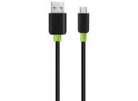 Cablu Date si Incarcare USB la MicroUSB Goui Classic, 1.5 m, Negru, Blister G-MC-01K