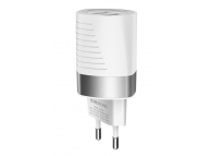 Incarcator Retea USB Borofone BA26A Zowie, Smart ID, 2.4A, 2 X USB, Alb, Blister