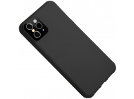 Husa TPU OEM Creative Liquid Silicone pentru Apple iPhone XR, Neagra, Bulk