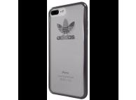 Husa Plastic - TPU Adidas OR pentru Apple iPhone 7 Plus / Apple iPhone 8 Plus, GUN METAL, Transparenta, Blister