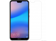 Folie Protectie Ecran Zagg pentru Huawei P20 Lite, Sticla securizata, Full Face, Neagra, Invisible SHIELD, Blister