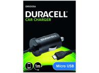 Incarcator Auto cu fir MicroUSB Duracell DR5005A, Negru, Blister