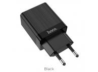 Incarcator Retea USB HOCO C51A, 3.4A, 2 X USB, Negru, Blister
