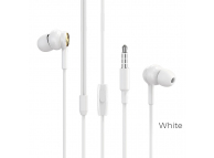 Handsfree Casti In-Ear Borofone Complacent BM33, Cu microfon, 3.5 mm, Alb, Blister