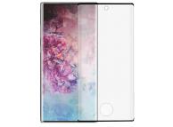 Folie Protectie Ecran Tellur pentru Samsung Galaxy Note 10 N970, Sticla securizata, Full Glue, 3D, Neagra, Blister TLL145313