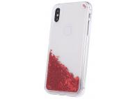 Husa TPU OEM Liquid Glitter Letters pentru Apple iPhone 11 Pro, Rosie, Bulk
