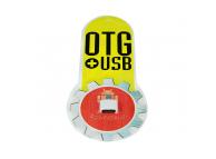 Adaptor OTG USB la MicroUSB OEM, Alb, Blister