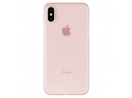 Husa Plastic Goospery Mercury Ultra Skin pentru Apple iPhone X / Apple iPhone XS, Roz Aurie, Blister