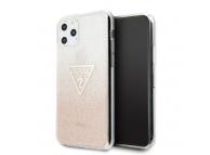 Husa TPU Guess Glitter Triangle pentru Apple iPhone 11 Pro Max, Roz, Blister GUHCN65SGTLPI