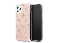 Husa TPU Guess 4G Glitter pentru Apple iPhone 11 Pro, Roz, Blister GUHCN58PCU4GLPI