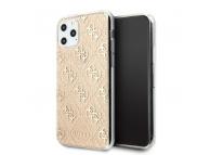 Husa TPU Guess 4G Glitter pentru Apple iPhone 11 Pro Max, Aurie, Blister GUHCN65PCU4GLGO