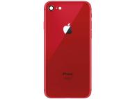 Capac Baterie cu rama mijloc si geam camera spate Rosu Apple iPhone 8