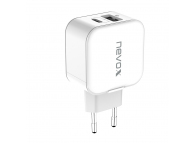 Incarcator Retea USB Nevox QC3.0, 18W, 1 X USB - 1 X USB Tip-C, Alb, Blister