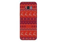 Husa TPU OEM Renifers Christmas pentru Samsung Galaxy A40 A405, Rosie, Bulk