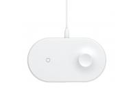 Incarcator Retea Wireless Baseus Smart 2in1, pentru telefon si Apple Watch 2/3, Alb, Blister WXJMY-0G