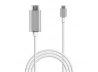 Cablu Audio si Video HDMI la USB Type-C OEM HC-01, Alb, Blister