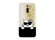 Husa TPU OEM LIQUID CAT pentru Xiaomi Redmi K20 / Xiaomi Redmi K20 Pro, Aurie - Neagra, Bulk