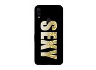 Husa TPU OEM LIQUID SEXY pentru Xiaomi Redmi 7, Aurie - Neagra, Bulk