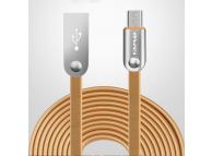 Cablu Date si Incarcare USB la MicroUSB Awei CL-18, 2 m, Auriu, Bulk